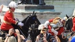 79-летний всадник упал вобморок вовремя парада наглазах Елизаветы II