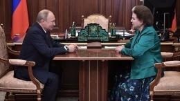 Путин поздравил Терешкову с55-летием полета вкосмос
