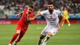 Англия иТунис обменялись голами впервом тайме