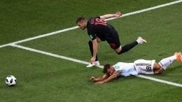 Первый тайм матча Аргентина-Хорватия завершился без забитых мячей