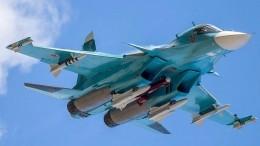 Всети появилось видео Су-34, «потопившего» научениях корабль наКаспии