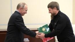 Кадыров попросил уПутина скоростную магистраль вГрозный