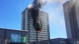 21-этажный небоскреб полыхает навостоке Лондона— видео