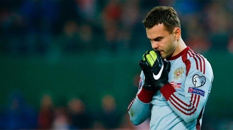 Российский вратарь Акинфеев— лучший игрок матча Россия-Испания вЧМ-2018
