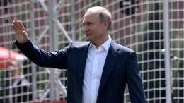 Путин поздравил сборную РФспобедой над Испанией вЧМ-2018