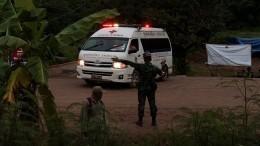 Операция поспасению школьников изпещеры вТаиланде временно приостановлена