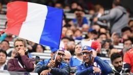 Французские болельщики двигаются маршем кпетербургскому стадиону— видео