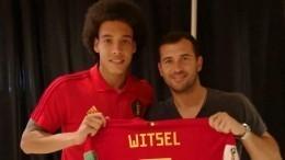 Фото: Витсель встретился сКержаковым вПетербурге перед матчем Бельгия— Англия
