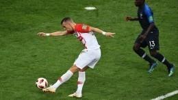 ФиналЧМ. Франция 1:1 Хорватия— видео гола Перишича