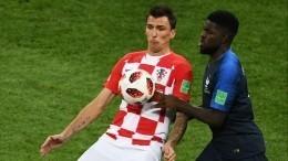 4:2— хорваты забили второй гол французам вфинале ЧМ-2018