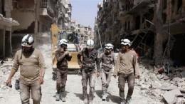 СМИ: США иихсоюзники хотят эвакуировать «Белых касок» изСирии