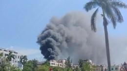 ВГаване тушили пожар взданииНационального института онкологии ирадиобиологии
