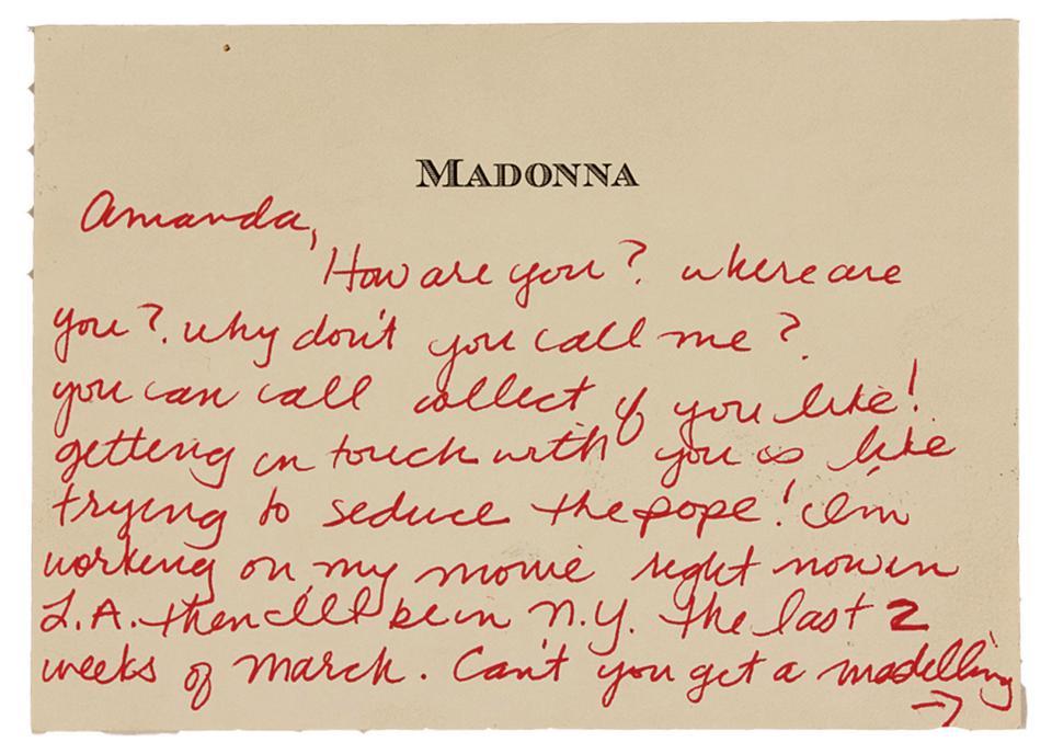 Письмо Мадонны