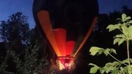Воздушный шар смолодоженами потерпел аварию под Петербургом