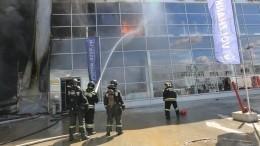 ВКотельниках полыхал торговый центр— видео свысоты птичьего полета