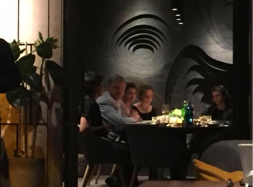 Петр Порошенко за ужином