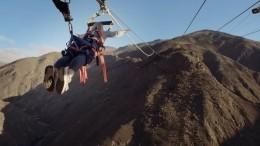 ВНовой Зеландии заработала гигантская горная катапульта для людей— видео