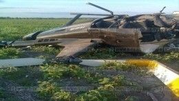 Под Рязанью разбился частный вертолет— кадры сместа