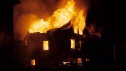 Последствия страшного пожара вПодмосковье сняли сбеспилотника