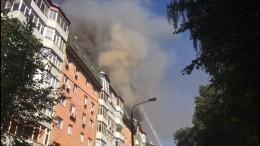 Очевидцы опожаре вКоролеве: горят двухуровневые квартиры