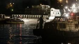 Очевидцы сообщают остолкновении двух катеров наМоскве-реке