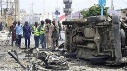 Мощный взрыв встолице Сомали попал навидео