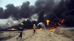Видео: ВоВладивостоке пожар натерритории нефтебазы ТОФ сняли навидео