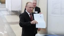 Владимир Путин проголосовал навыборах мэра Москвы