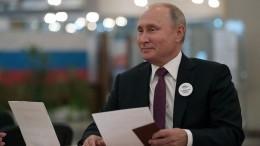 «Ачего трудного?»— Путин рассказал, как голосовал замэра Москвы