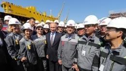 Путин: Возведение судоверфи «Звезда»— это проект общенационального масштаба