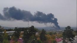 ВСвердловской области пожар натерритории автозавода сняли навидео
