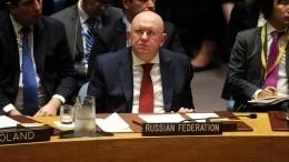 Российско-турецкий меморандум поИдлибу передадут вООН— Небензя