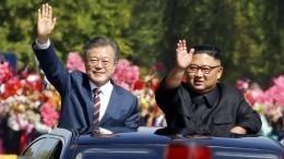 Ким Чен Ынугостил президента Южной Кореи корнями колокольчика