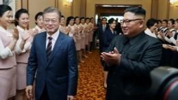 Лидеры КНДР иЮжной Кореи подписали военное соглашение поитогам саммита