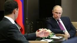 Песков: Путин иАсад еще необсуждали крушение российского Ил-20 вСирии