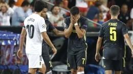 Криштиану Роналду заплакал, когда его удалили спервого матча за«Ювентус»