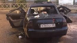 Видео: Четыре человека в«Приоре» погибли при столкновении скатком вТамбове
