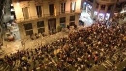 ВБарселоне начались столкновения митингующих сполицией