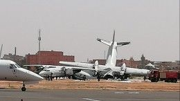 Столкновение военных самолетов ваэропорту Судана попало навидео