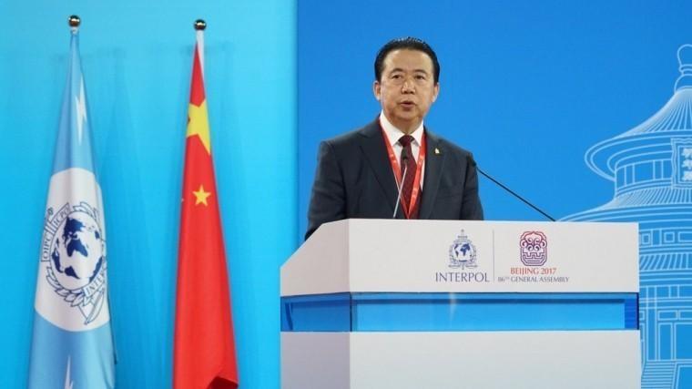 Арестованный вКитае глава Интерпола ушел вотставку