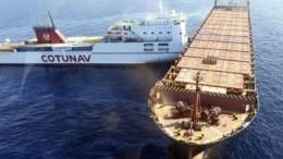 Столкновение двух судов вСредиземном море едва непривело кэкологической катастрофе