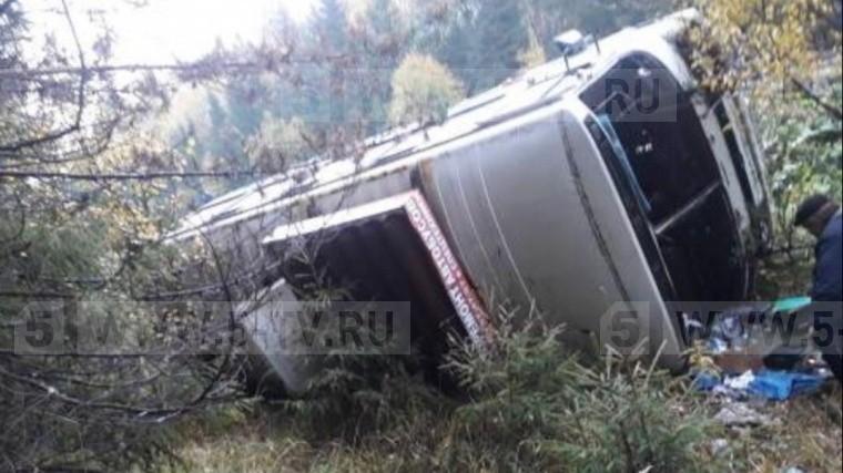 Автобус срабочими опрокинулся вИвановской области
