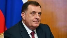 Президент Республики Сербской намерен добиваться признания Крыма российским