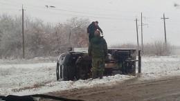 Снегопад вызвал заторы иаварии вАлтайском крае