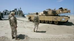 Хуситы показали, как горит военная гордость США— танк Abrams— видео