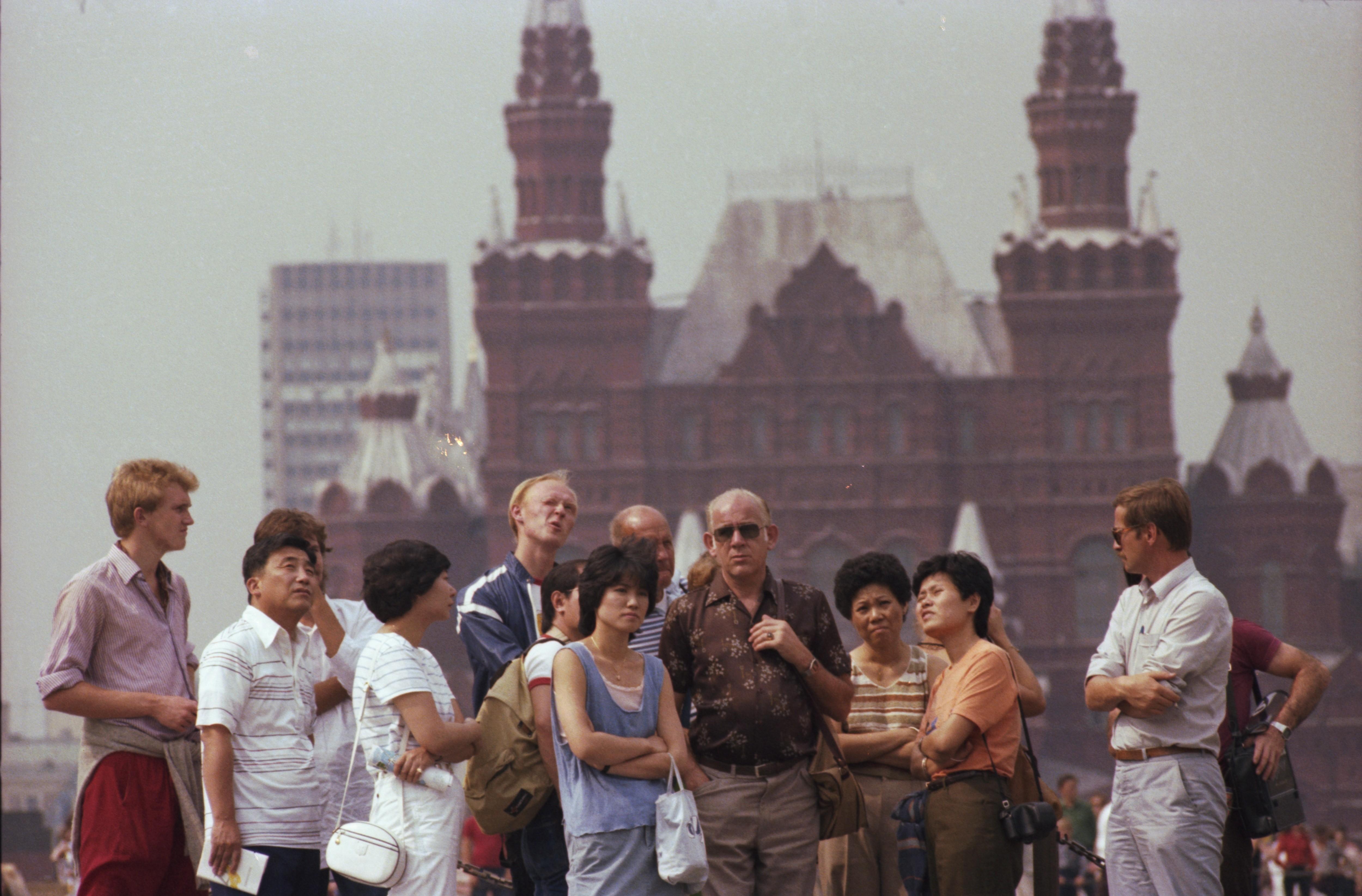 Туристы в Москве, 1983 год