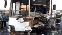 Опубликовано видео сместа ДТП савтобусом вНижегородской области