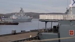 Минобороны опубликовало видео учений нафрегате «Адмирал Горшков»