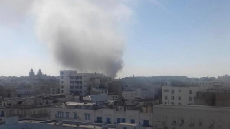Очевидцы сообщают омощном взрыве вцентре Туниса