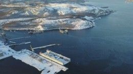 Затонувший плавдок под Мурманском сняли сквадрокоптера